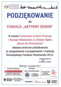 Razem dla wolontariatu - 14.12.2012