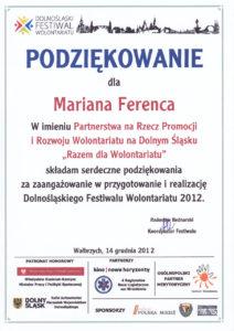 Razem dla wolontariatu - Marian Ferenc - 14.12.2012