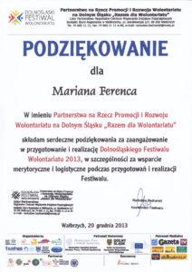 Razem dla wolontariatu - Marian Ferenc - 20.12.2013