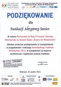 Dolnośląski Festiwal Wolontariatu - 20.12.2014