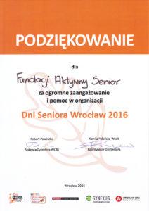 Dni Seniora - 2016