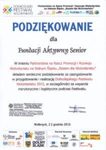 Dolnośląski Festiwal Wolontariatu - 22.12.2015