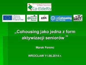 Co-Housing - aktywizacja seniorów