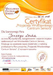 Przyjaciel Seniorów - Jerzy Lech
