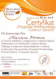 Przyjaciel Seniorów - Marian Ferenc